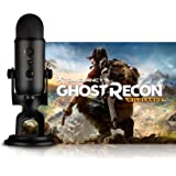 Blue Blackout Yeti - Micrófono + Tom Clancy's Ghost Recon Wildlands PC: Streamer Bundle, Negro (Blackout)