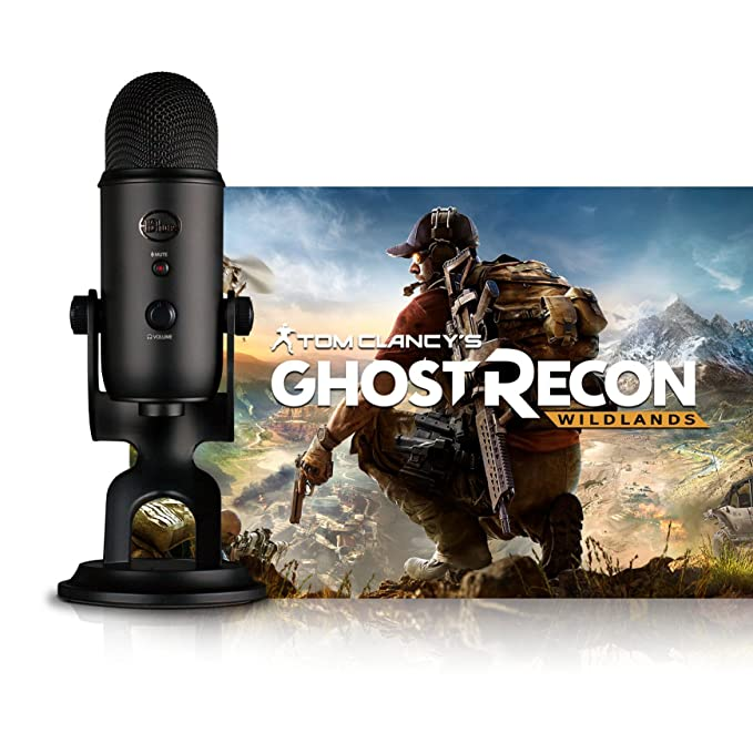 Blue Blackout Yeti - Micrófono + Tom Clancys Ghost Recon Wildlands PC: Streamer Bundle, Negro (Blackout)