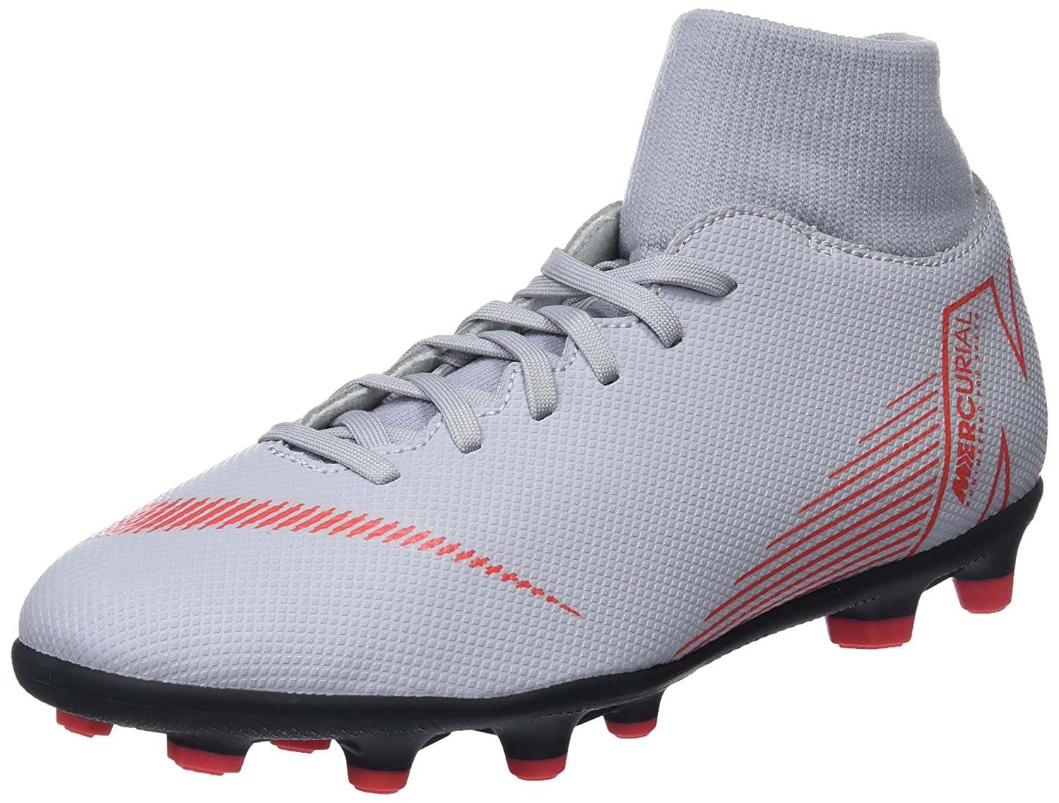 c3eca57fa2ae Nike Superfly 6 Club Fg/Mg Mens Football Boots Ah7363 Soccer Cleats (UK 7.5  US 8.5 EU 42, Wolf Grey Light Crimson Black 060): Buy Online at Low Prices  in ...