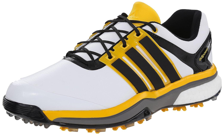adidas Men's 'Adipower Boost' Golf Shoe B00WBCGIW4 7.5 D(M) US White/Black/Bright Yellow