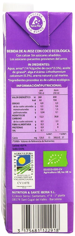 Gerblé - Arroz Coco Bio - Bebida De Arroz Con Coco Ecológica - 1 l ...