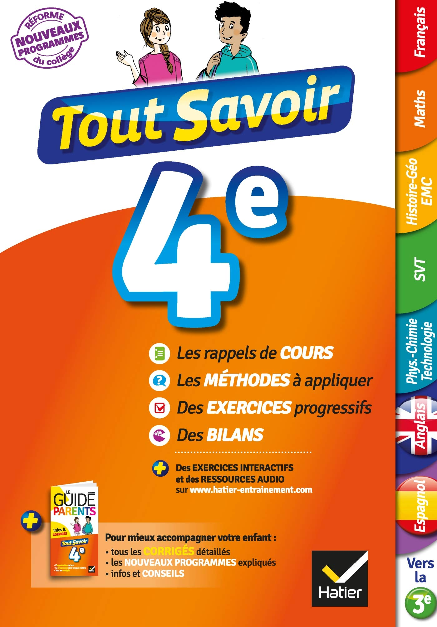Amazon Fr Tout Savoir 4e Nouveau Programme Pour Reviser