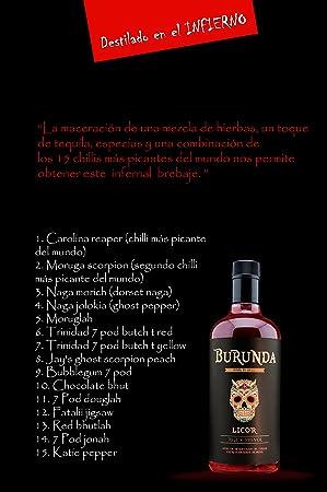Burunda - licor macerado en los 15 chilis más picantes del mundo
