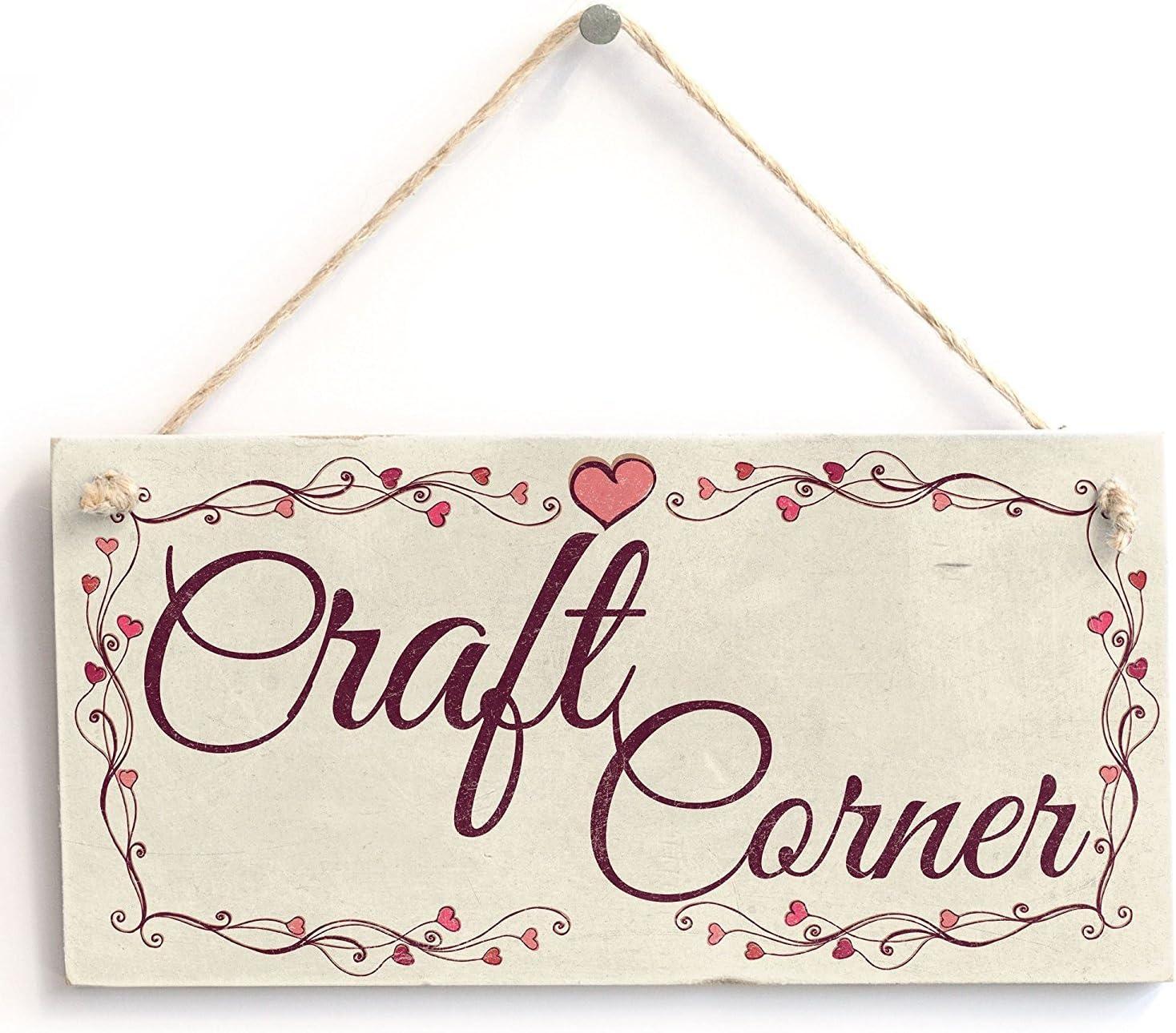 Meijiafei Craft Corner - Heart Design Shabby Chic Door Sign/Plaque 10