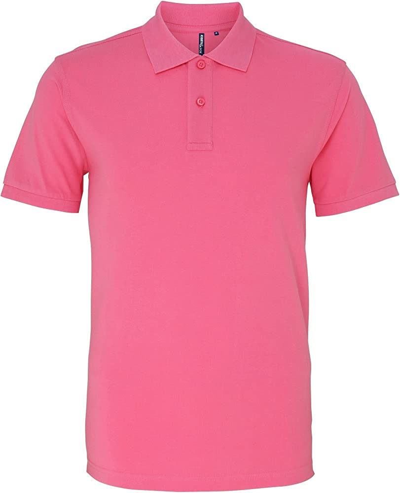 Asquith & Fox Asquith and Fox Mens Polo, Rosa (Neon Pink 000 ...