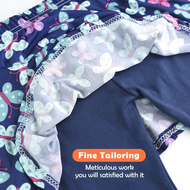 slaixiu Girls Leggings Skirt Stretchy Printing Flower Skirtpants 4-11 Years(GP12_Butterfly_110)
