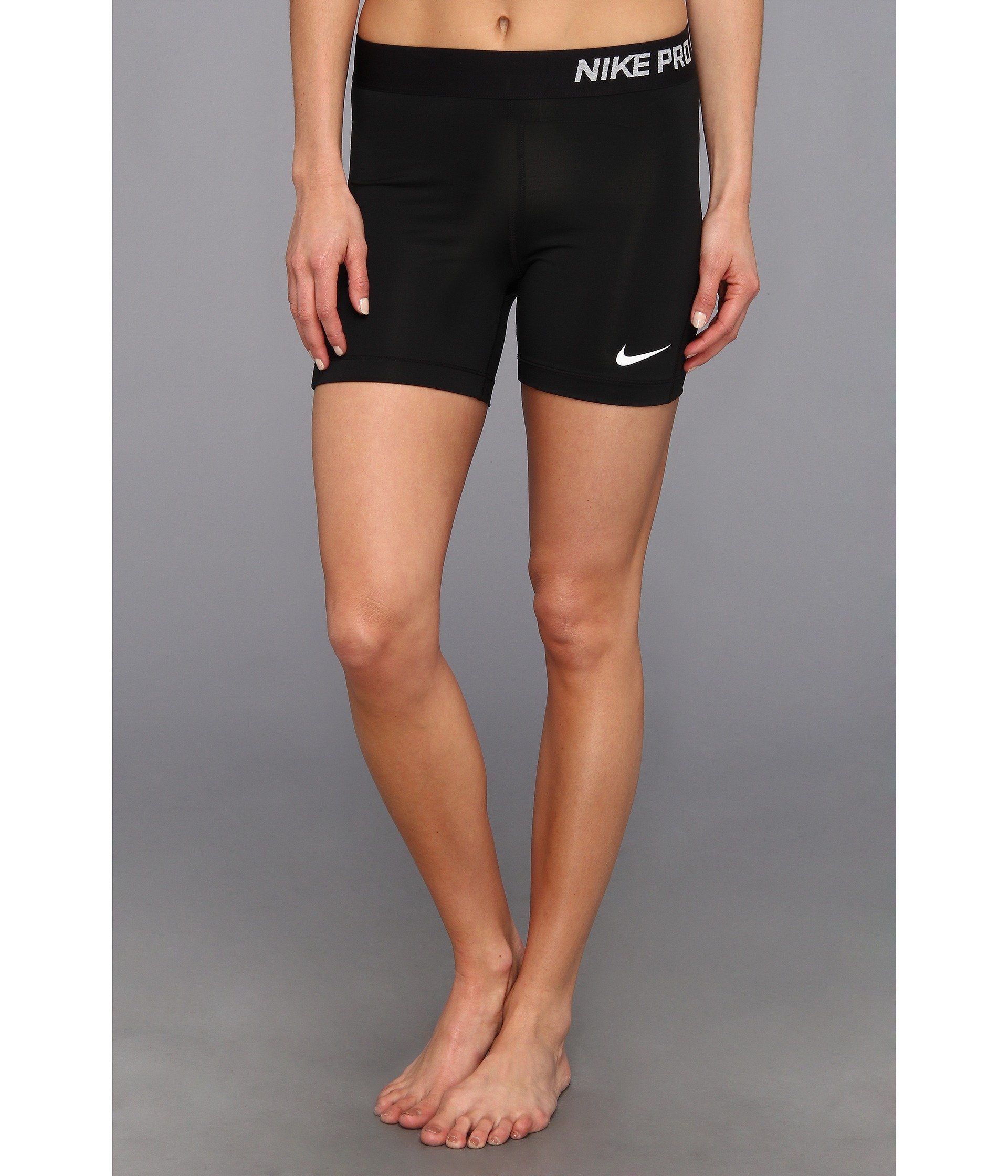 Nike Pro 5'' Compression Shorts,Black/White,Medium