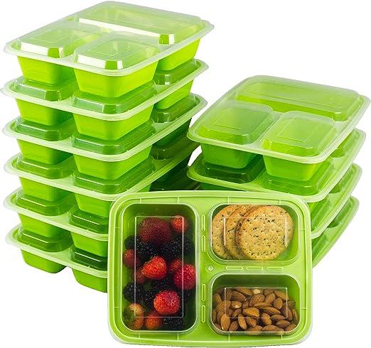 Amazon.com: Paquete de 10 recipientes para preparar comidas ...