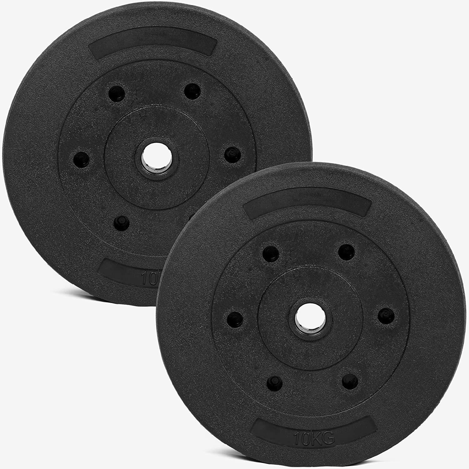 Gallant Standard 1 Inch Vinyl Weight Plates Set - 10KG Each, Available in 20KG, 40KG, 60KG, 80KG, 100KG sets Gallant Sports
