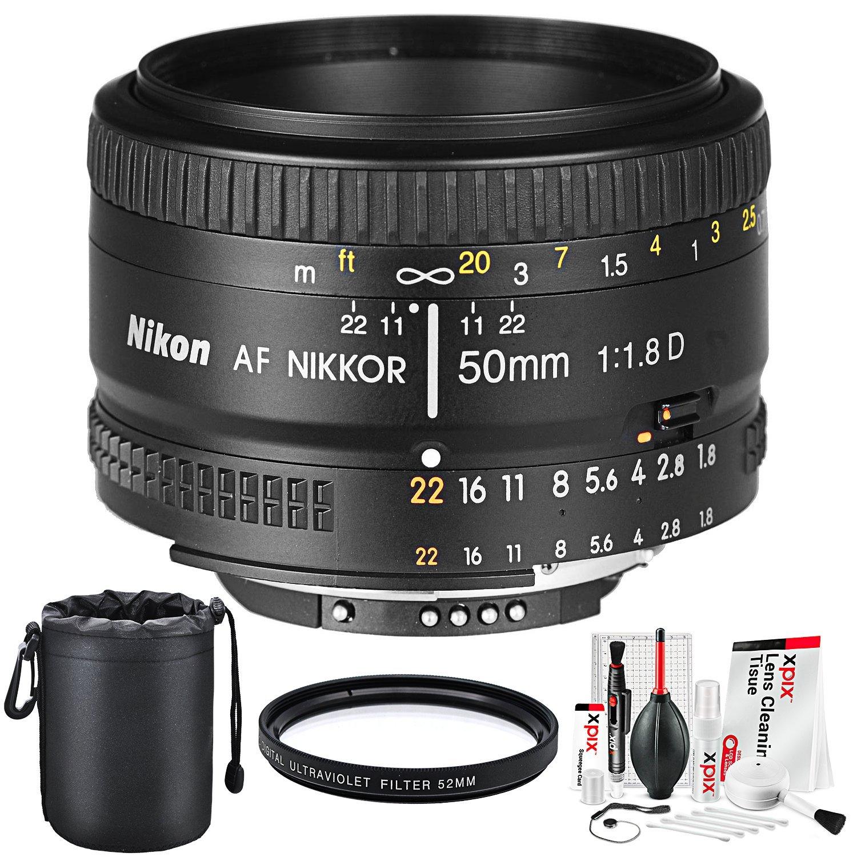 Nikon Af Nikkor 50mm F 18d Prime Lens And Basic Accessory Bundle W Cleaning Kit 7 In 1