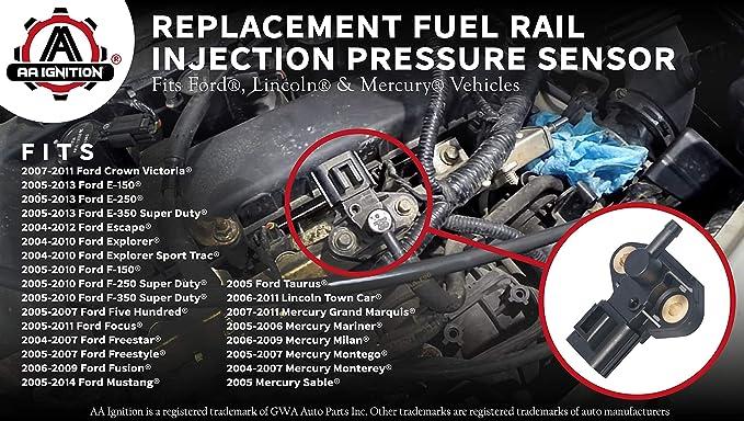 03 04 Ford SVT Cobra Fuel Rail Pressure Sensor Regulator Connector