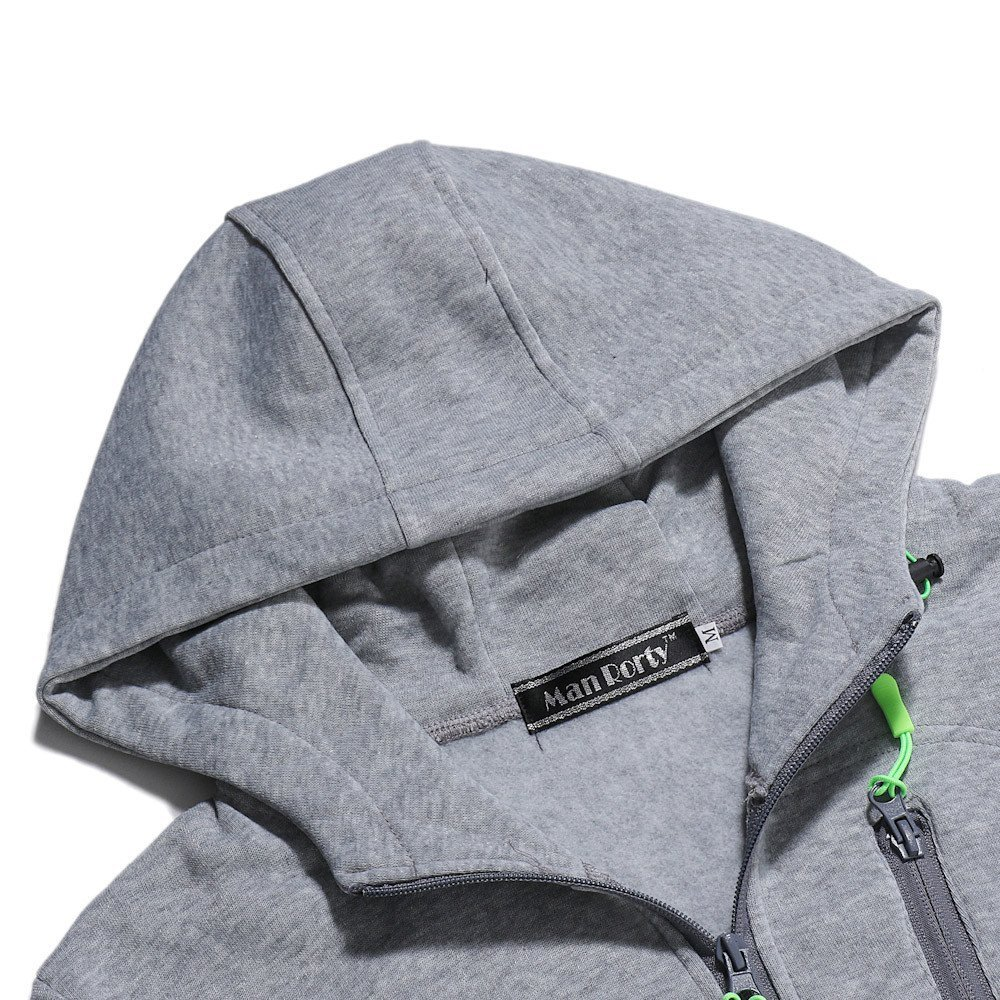 Fenleo Mens Hoodie,Mens Autum Winter Long Sleeve Zipper Patchwork Hooded Sweatshirt Cardigan Tops W05