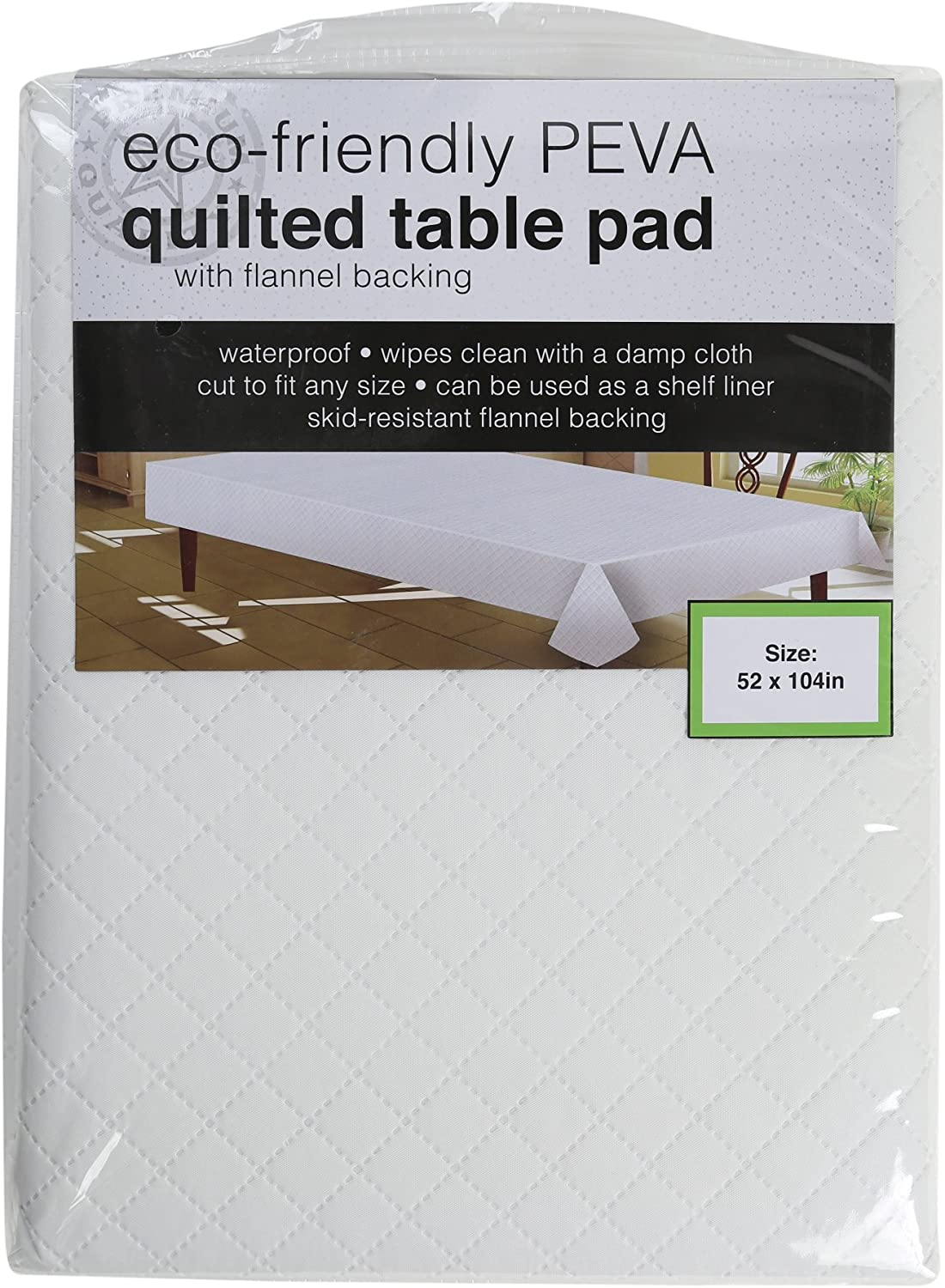 "Eco-friendly Peva Quilted Table Pad with Flannel Backing Size 52"" By 104"" By Sultan's Linens,: Home & Kitchen"