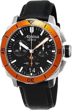 Amazoncom Alpina Seastrong Diver Big Date Chronograph Black - Alpina diver