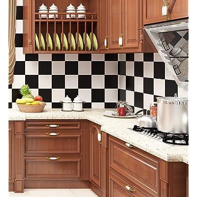 Buy Livelynine Checkered Black And White Vinyl Flooring Roll 15 8x78 8 In Waterproof Peel And Stick Floor Tile For Bedroom Kitchen Backsplash Bathroom Floor Covering Peel And Stick Flooring Stickers Online In Poland