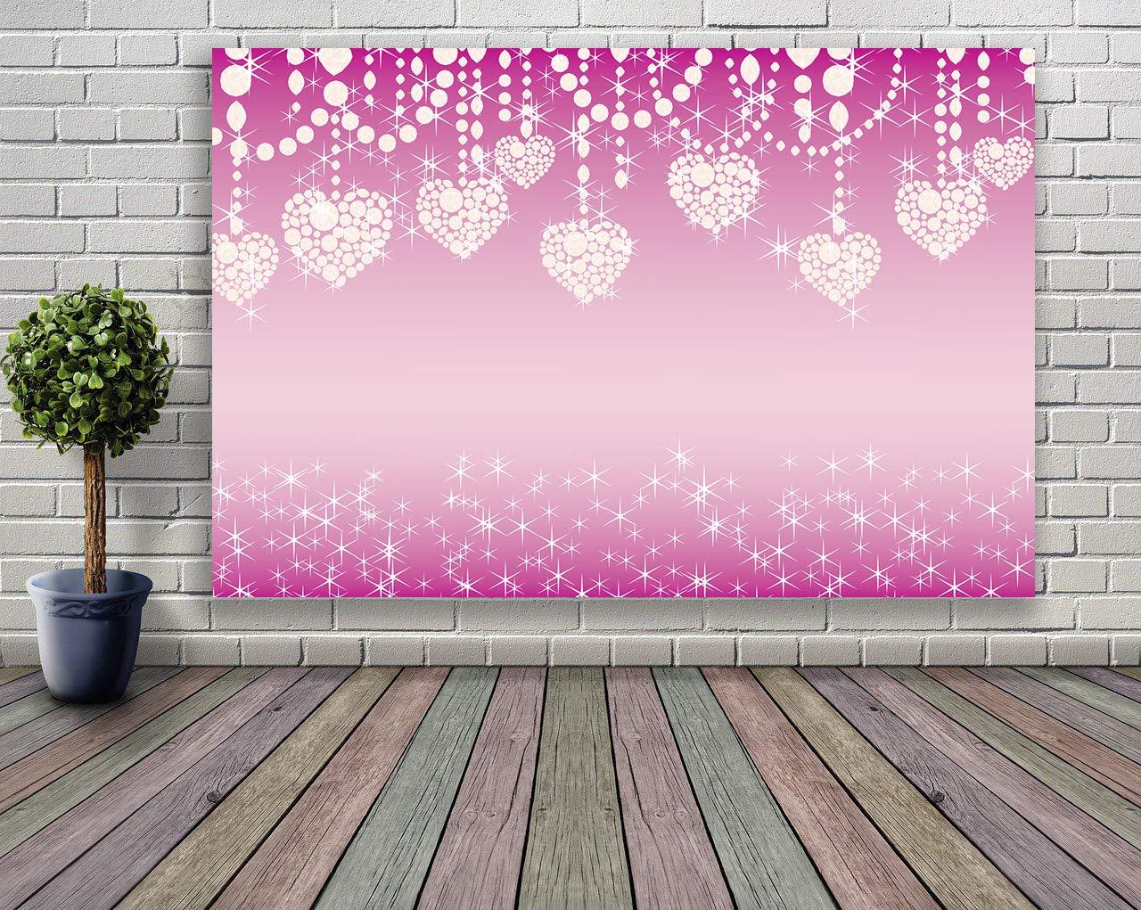 Mehofoto Saint Valentin Toile de Fond 7x5ft Amour Coeur Glitter Bokeh Diamants /Étincelants Photo Backdrops C/ér/émonie De Mariage Photographie Fond