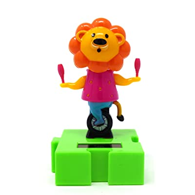 #003 Fun and Cute Lion with MaracasToys Solar Dancing Animal Circus Show: Toys & Games