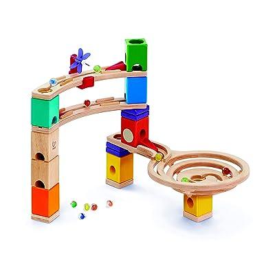 Hape Quadrilla Race to The Finish Marble Run Blocks, Multicolor: Toys & Games