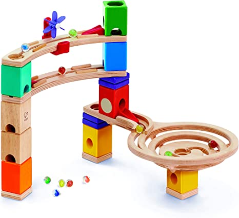 Hape Quadrilla Whirlpool Wooden Marble Run Race Maze Construction Building Set