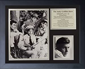 """Andy Griffith 11"""" x 14"""" Framed Photo Collage by Legends Never Die, Inc. - B&W"""
