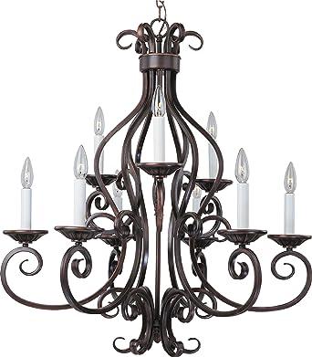 maxim 12216oi manor 9light chandelier oil rubbed bronze