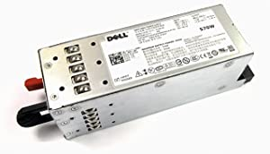Dell 570W Redundant Power Supply for PowerEdge R710 Server PN: MYXYH T327N VPR1M G0KD5 RXCPH J98GF (Renewed)