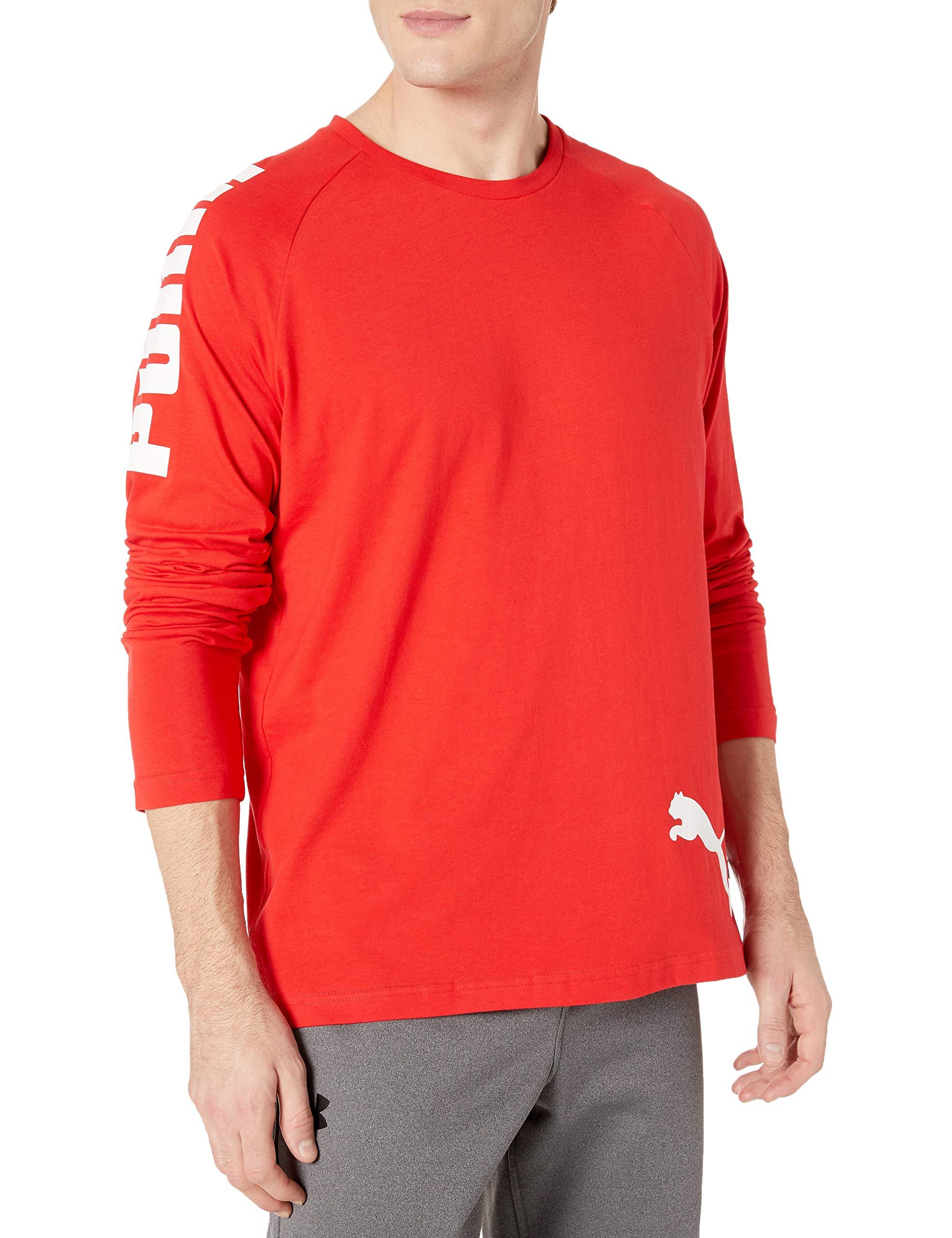 PUMA Men's Big Logo Long Sleeve Tee