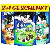 Felix akku-knabber Mix y cristal Pies I gato LEC kerlies, 12 unidades +