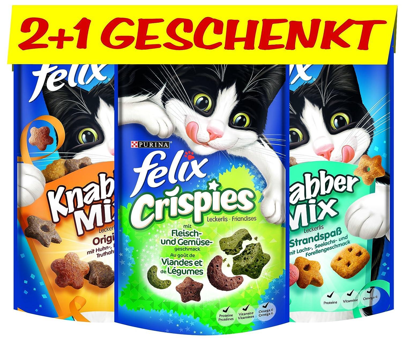 Felix knabber Mix et cristal pies I Chat lec kerlies, 12pièces + 6gratuits, 6x (2x 60g + 45g) 12239965