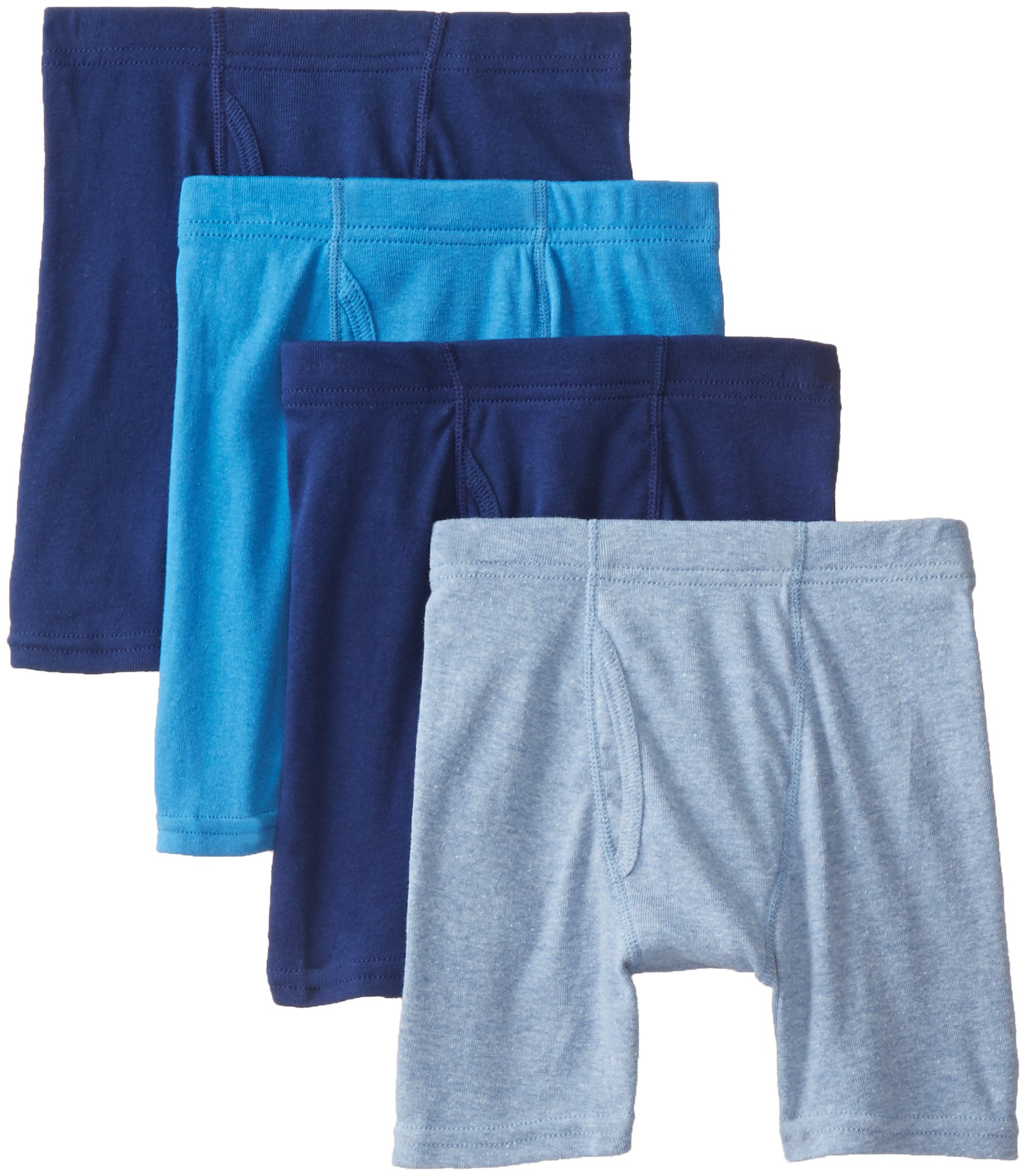Hanes Boys' 4 Pack Ultimate ComfortSoft Blue Dyed Boxer Brief, Assorted, Medium
