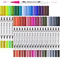 36 Colors Art Markers, Ohuhu Dual Tips Coloring Brush Marker Fineliner Color Pens, Water Based Marker for Calligraphy…