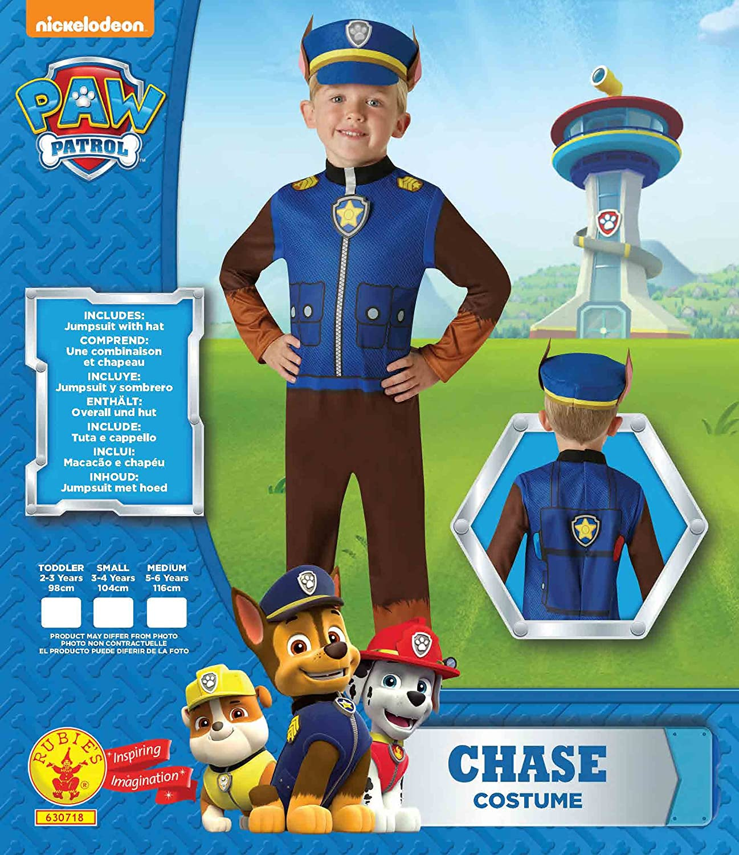 Rubies 630718-T Disfraz Chase Paw Patrol