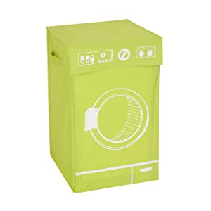 Honey-Can-Do HMP-04061 Washer Graphic Hamper, Green, 14 by 23-Inch