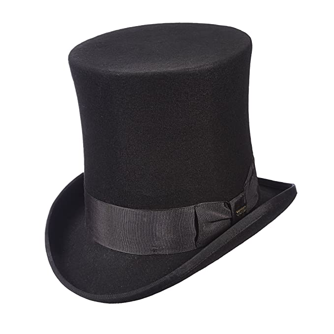 Men's Vintage Style Hats  Victorian Tall Top Hat $95.00 AT vintagedancer.com