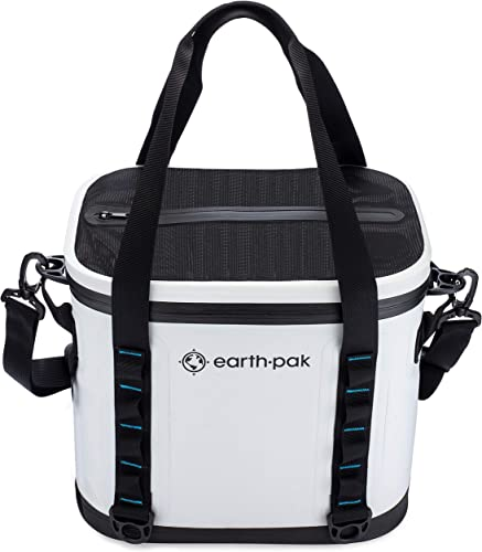 Earth Pak Heavy Duty Waterproof 20 Can Soft Cooler Bag for Camping, Sports, Fishing, Kayaking, Beach Trips – Mesh Tote Insert Included