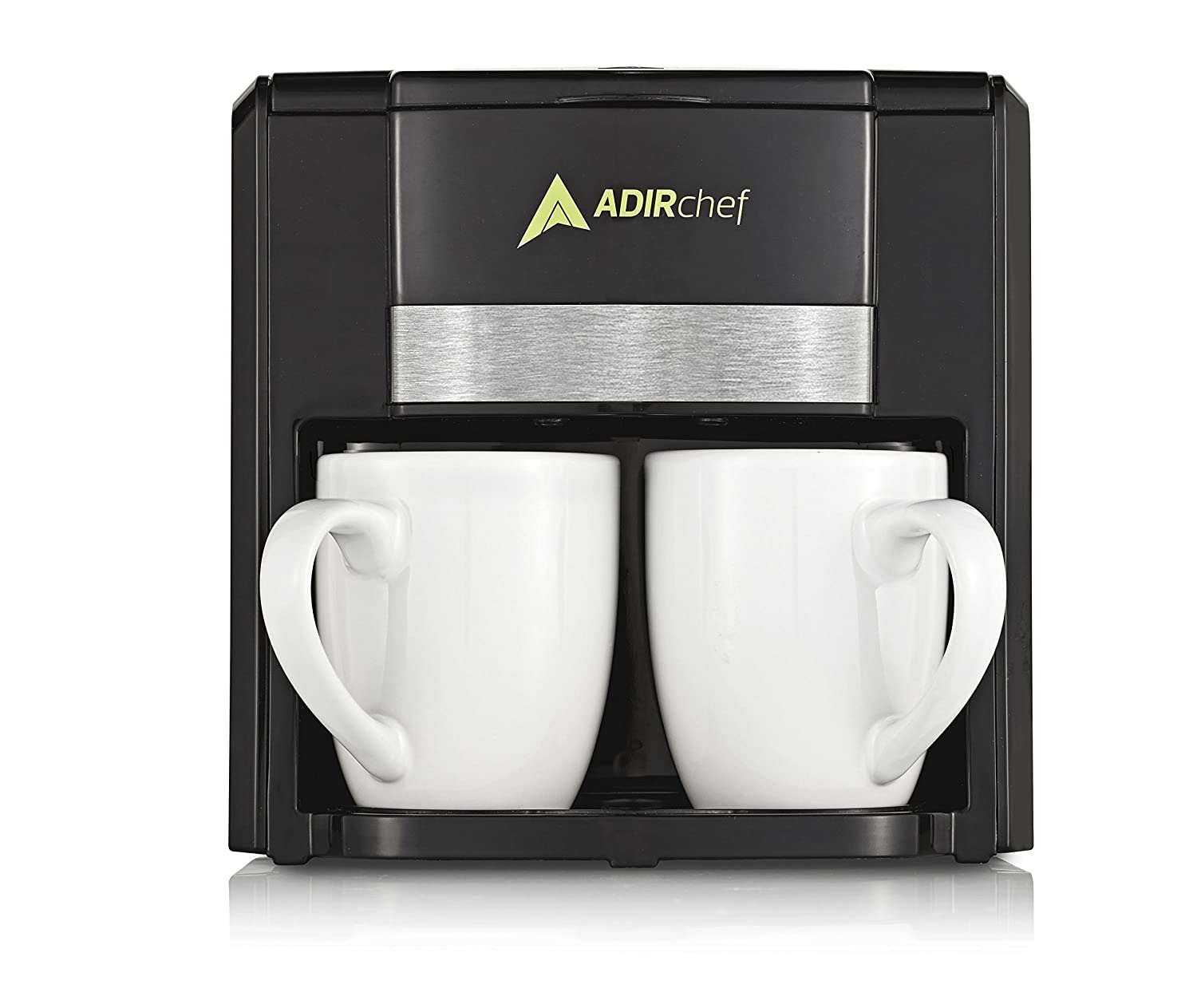 AdirChef BFF 2 Person/Cup Coffee Maker (Mugs Included) (Black)