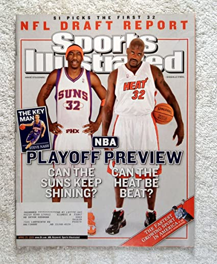 Amare Stoudemire Phoenix Suns Shaquille O Neal Miami Heat Sports Illustrated April 25 2005 Nba Playoff Preview Si At Amazon S Sports Collectibles Store