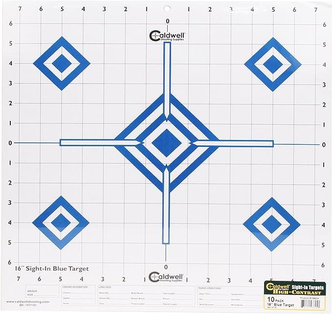 Caldwell Sight in Target High Contrast Bleu 198604 16 pouces 10-Pack NOUVEAU