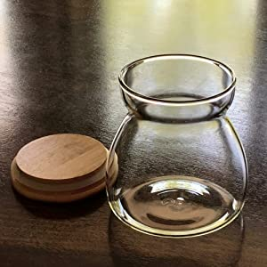 Back In Stock-Airtight Jar, 23.67 FL OZ (700 ML) Glass Storage Canisters Containers For Coffee, Kitchen Spices & Many More. Light But Robust With Bamboo Lid, Freezer & Heat Resistant.