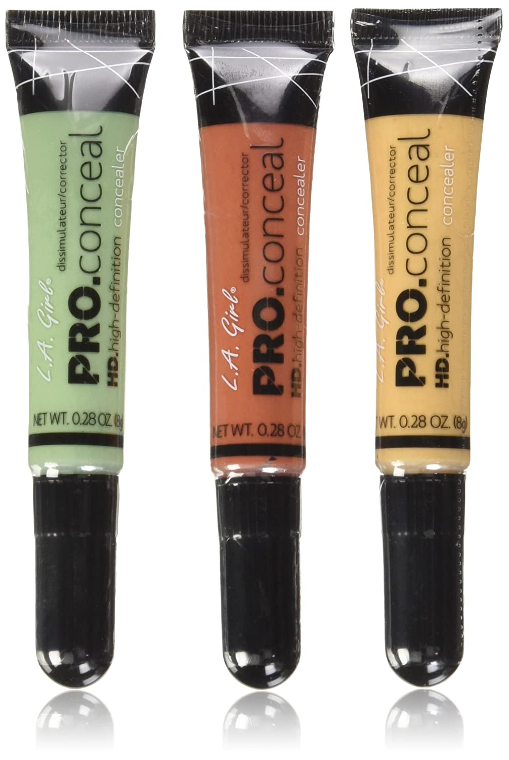 3 LA Girl Pro Conceal HD Concealer (Orange, Yellow, Green) L.A. Girl Beauty21