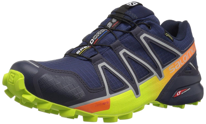 Salomon Speedcross 4 GTX, Calzado de Trail Running para Hombre 42 EU|Azul (Medieval Blue/Acid Lime/Graphite)