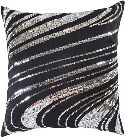 Amazon Decorative Silver Sequins Floral Throw Pillow Cover 40 Magnificent Silver Sequin Decorative Pillow