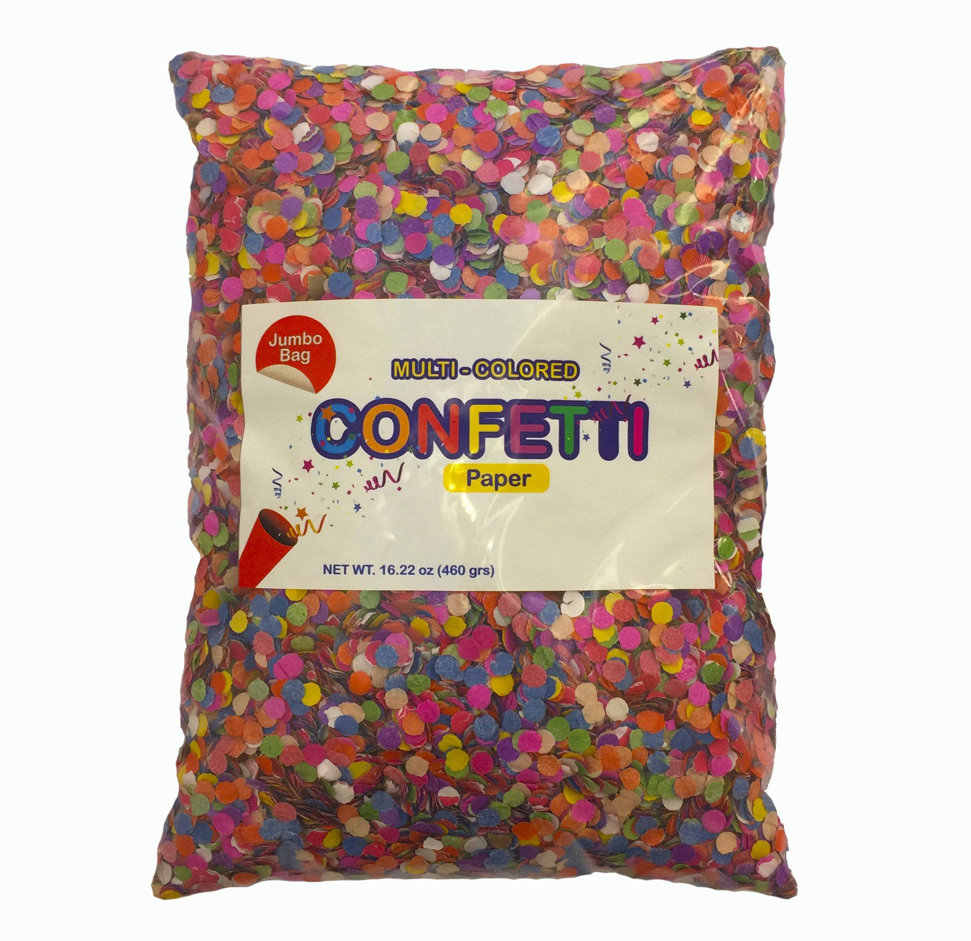Multicolor Mexican Confetti .Jumbo Bag with 16.22 Oz.Great for all kind of celebrations. Confetti Toss