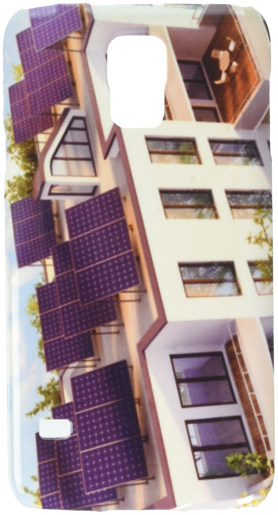 Solar pannels on the roof of the house cell phone cover case Samsung S5