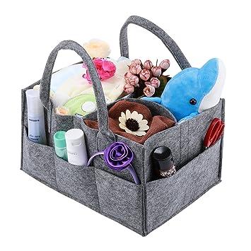 Amazon.com : Baby Diaper Caddy, Magicfly Portable Nursery Storage ...