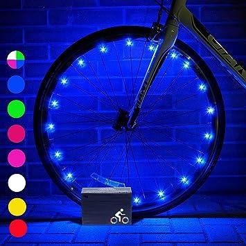 DMbaby 666389184849 - Luz LED para Bicicleta (Unisex, para niños de 6 a 15 años, Resistente al Agua), Color Azul: Amazon.es: Deportes y aire libre