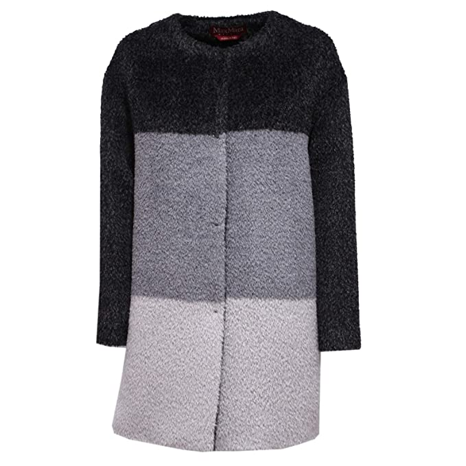 MaxMara 8016X Cappotto Donna Studio Alpaca Wool Grey Coat Woman [40]: Amazon.es: Ropa y accesorios