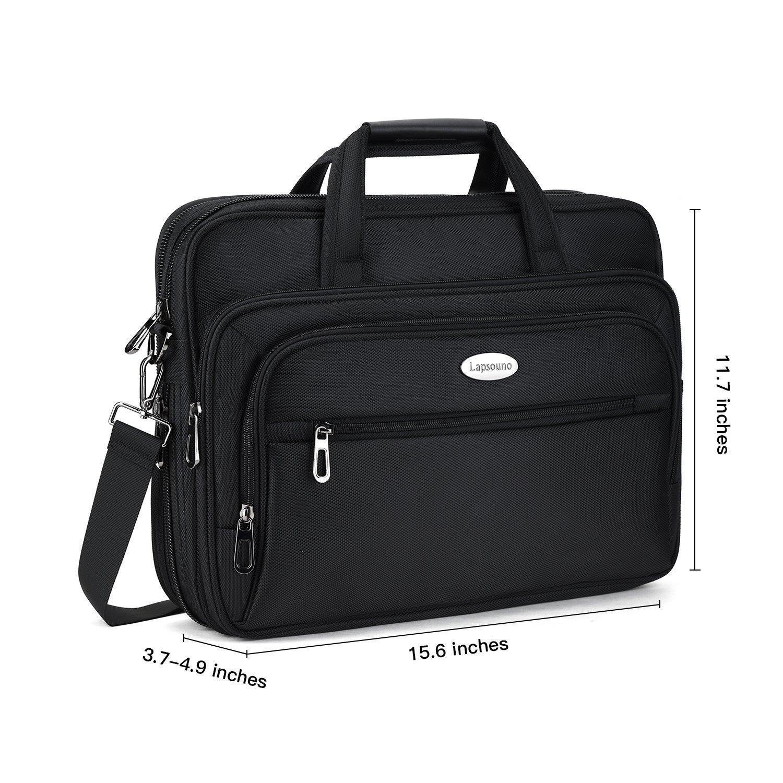 15.6 inch Laptop Briefcase, Expandable Large Shoulder Bag with Adjustable Shoulder Strap for Business Travel College Office Multi-function Shockproof Case Waterproof Messenger Handbag by Welist (Image #6)