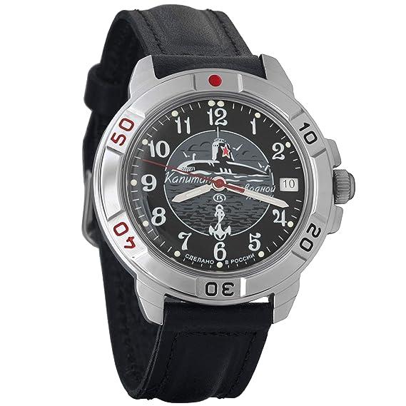 Vostok Komandirskie 2414A/431831 - Reloj de Pulsera para Hombre, mecánico, Militar, Ruso: Amazon.es: Relojes