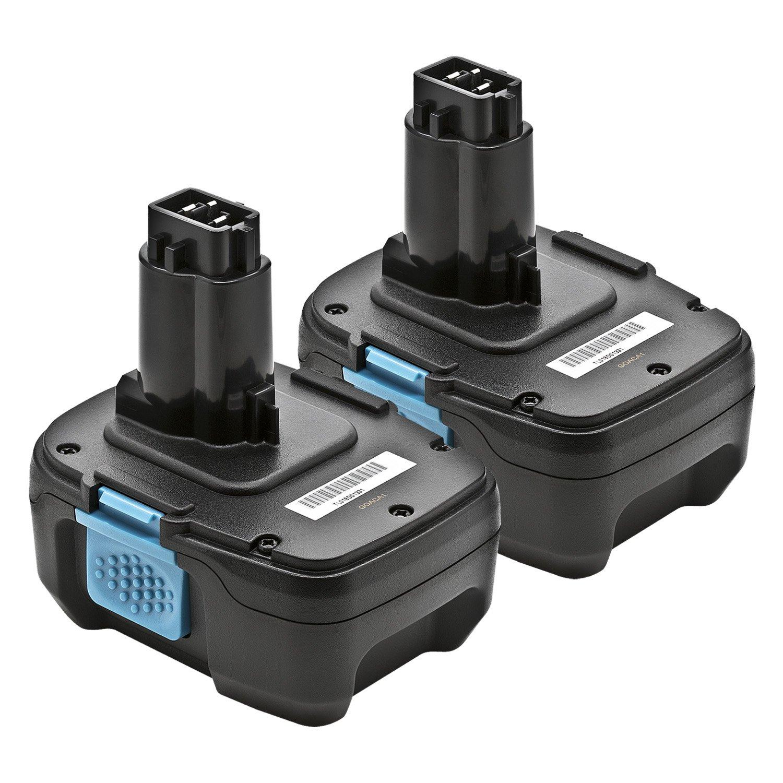 2 Pack ExpertPower Replacement battery for DeWalt DC9182, DC9181, DC9180, 18V XRP Lithium Ion fits all Dewalt 18 volt tools